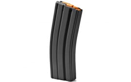 ASC AR-15 .223/5.56 30rd Magazines, Black Marlube Coated Aluminum Body, Orange Follower