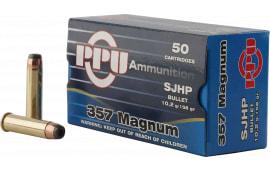 PPU PPH357MH Handgun 357 Magnum 158 GR Semi-Jacketed Hollow Point - 50rd Box