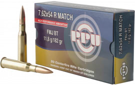 PPU PPM7 Match 7.62x54mmR 182 GR Full Metal Jacket - 20rd Box