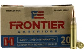 Frontier Cartridge FR310 Frontier 223 Remington/5.56 NATO 68 GR Boat Tail Hollow Point Match - 20rd Box
