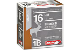 "Aguila 1C1601BA Field High Velocity 16GA 2.75"" 1-1/8oz 1 Buck - 25sh Box"