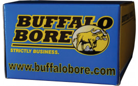 Buffalo Bore Ammunition 4D/20 44 Magnum +P+ Lead Flat Nose 340 GR - 20rd Box