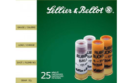 "Sellier & Bellot SB12RSA Special Rubber Ball 12GA 2.75"" 2-11/16oz 15 Rubber Pellets Shot - 25sh Box"