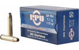 PPU PP30S Standard Rifle 30 Carbine 110 GR Soft Point - 50rd Box