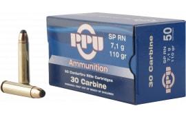 PPU PP30S Standard Rifle 30 Carbine 110 GR Soft Point - 50rd Box
