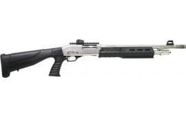 "Iver Johnson Arms PAS12SNPG Johnson Shotgun 12GA. 3"" 18"" S.NICKEL QD PG Buttstock Shotgun"