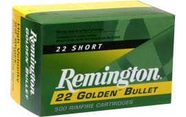 Remington Ammo 1000 22Short 29 GR HV Plated Lead Round Nose - 100rd Box