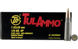 Tulammo UL076209 Centerfire Rifle 7.62x39mm 124 GR FMJ - 40rd Box