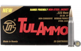Tulammo TA223557 Centerfire Rifle 223 Remington/5.56 NATO 55 GR Hollow Point - 20rd Box