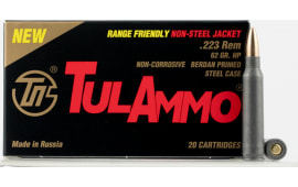 Tulammo TA223624 Centerfire Rifle 223 Remington/5.56 NATO 62 GR Hollow Point - 20rd Box