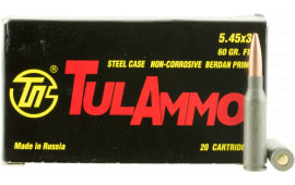 Tulammo TA545390 Centerfire Rifle 5.45mmX39mm 60 GR FMJ - 20rd Box