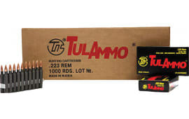 Tulammo TA223552 Centerfire Rifle 223 Remington/5.56 NATO 55 GR Hollow Point - 20rd Box