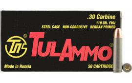 Tulammo TA301100 Centerfire Rifle 30 Carbine 110 GR FMJ - 50rd Box