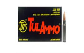 Tulammo TA308150 Centerfire Rifle 308 Win/7.62 NATO 150 GR FMJ - 20rd Box