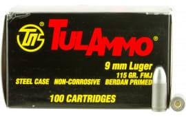 Tulammo TA919100 Centerfire Handgun 9mm 115 GR FMJ - 100rd Box