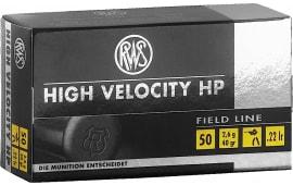 RWS 2132494 22LR 40 GR High Velocity Hollow Point 50 Per Box - 50rd Box