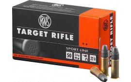 RWS 2132478 22 LR 22 Long Rifle Lead Round Nose 40 GR 50 Rnds Per Box - 50rd Box