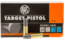 Walther Arms 2132710 22 Long Rifle 40 GR Lead Round Nose - 50rd Box