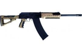 "Kalashnikov USA KS12TFDE KS12T 12GA. 18.25"" 3"" 1-10rd Magazine Black/FDE M4 Stock"