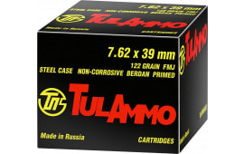 Tulammo UL076240 Centerfire Rifle 7.62x39mm 122 GR FMJ - 40rd Box
