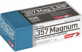 Aguila 1E572823 357 Magnum 158 GR Semi-Jacketed Soft Point - 50rd Box