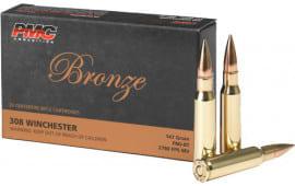 PMC 308B Bronze 308 Winchester/7.62 NATO Full Metal Jacket 147 GR - 500 Round Case