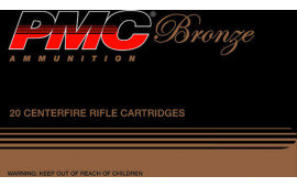 PMC 308B Bronze 308 Winchester/7.62 NATO Full Metal Jacket 147 GR - 20rd Box