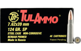 Tulammo UL076214 Centerfire Rifle 7.62x39mm 154 GR Spitzer - 40rd Box