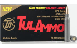 Tulammo TA223625 Centerfire Rifle .223/5.56 NATO 62 GR Full Metal Jacket - 20rd Box