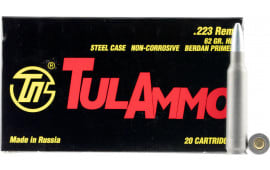 Tulammo TA223621 Centerfire Rifle .223/5.56 NATO 62 GR Hollow Point - 20rd Box