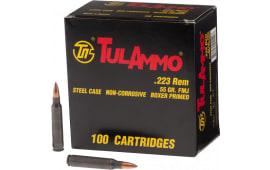 Tulammo TA223100 Centerfire Rifle 223 Rem/5.56 NATO 55 GR FMJ - 100rd Box