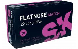 SK 420157 22LR Flatnose Match 40 GR - 50rd Box
