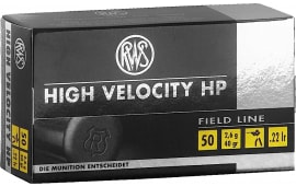 RWS 2132494 22LR 40 GR High Velocity Hollow Point 50 Per Box - 50rd Box