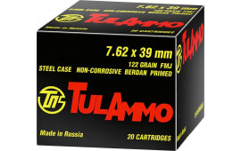 Tulammo UL076210 Centerfire Rifle 7.62x39mm 122 GR FMJ - 100rd Box