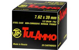 Tulammo UL076210 Centerfire Rifle 7.62x39mm 122 GR FMJ - 100 Round Qty