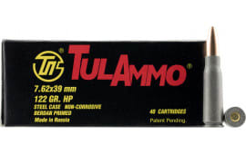 Tulammo UL076212 Centerfire Rifle 7.62x39mm 122 GR HP - 40rd Box