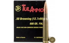 Tulammo TA127091 Centerfire Rifle 50 Browning Machine Gun (BMG) 680 GR Full Metal Jacket - 10rd Box