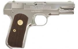 "Colt by US Armament 1903N 1903 Hammerless Single 3.75"" 8+1 Walnut Grip Nickel"