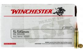 Winchester Ammo USA556L1 USA 5.56 *VP* 55 FMJ - 150rd Box