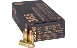 Sig Sauer E9MMB1-365-50 9mm 115 FMJ Elite - 50rd Box