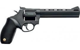 "Taurus 2692061 692 Standard DA/SA 6.5"" 7 rd Black Ribber Grip Black Carbon Steel Revolver"
