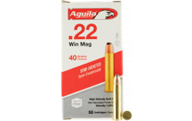 Aguila 1B222401 Silver Eagle 22 WMR 40 GR Jacketed Soft Point - 50rd Box