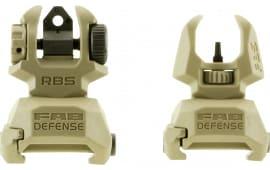 Mako FRBST Flip Up Backup Sight Set AR-15/M4/M16 Picatinny Rail Polymer FDE