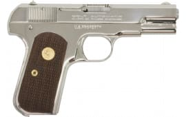"Colt by US Armament 1903N 1903 Hammerless Single 3.75"" 8+1 Walnut Grip Nickel"