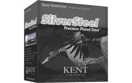 """Kent Cartridge KSS1235422 SilverSteel Waterfowl 12 GA 3.5"""" 1-1/2oz #2 Shot - 250sh Case"""