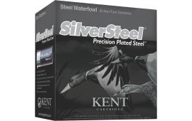"Kent Cartridge KSS123362 Silver Steel 12 GA 3"" 1-1/4oz #2 Shot - 250sh Case"