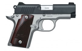 "Kimber Micro 9 Semi-Automatic 1911 Pistol 2.75"" Barrel 9mm 7rd - Two Tone Finish W/ Rosewood Grips - 3300099"