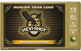 "HEVI-Shot 52751 Maximum Defense 2.75"" 12GA 1oz T Shot - 5sh Box"
