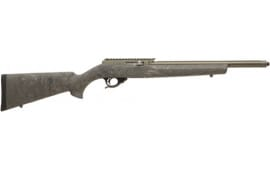 """Tactical Solutions X-Ring Semi Auto Rimfire Rifle .22 LR 16.5"""" Threaded Barrel 10 Rounds Ghillie Green Hogue Stock OD Green Finish"""