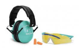 Walkers Game Youth Women Passive Muff & Glasses Combo - Teal - GWP-YWFM2GFP-LTL